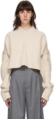 Bureau De Stil Off-White Oversized V-Neck Sweater