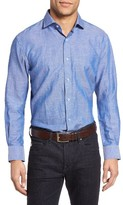 Maker & Company Men's Regular Fit Cotton & Linen Sport Shirt