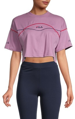 Fila Kana Logo Cropped T-Shirt