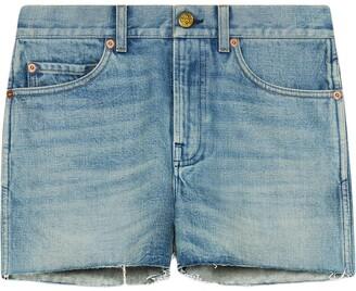 Gucci Patch Denim Shorts