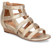 Sofft Rio Metallic Leather & Suede Wedges