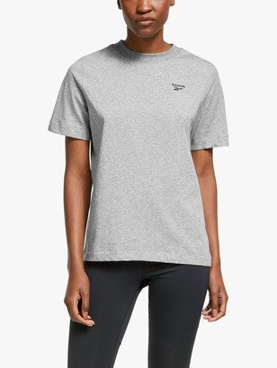 Reebok Training Essentials Easy Logo T-Shirt, Medium Grey Heather