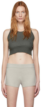 Frenckenberger Grey Cashmere Mini Tank Top