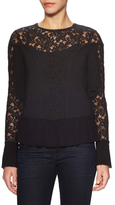 Plenty by Tracy Reese Woven Cotton Lace Paneled Blouse