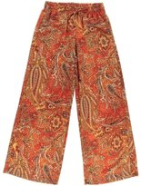 Lauren by Ralph Lauren Lauren Ralph Lauren Womens Printed Casual Wide Leg Pants Orange M