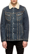 Nudie Jeans Lenny Denim Jacket With Shearling Collar