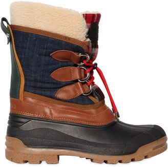 DSQUARED2 35mm Denim & Nylon Duck Boots