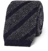 Altea 6cm Knitted Wool-blend Tie - Navy