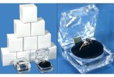FindingKing 12 Large Mens Crystal Ring Jewelry Gift Boxes