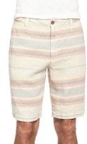 Tailor Vintage Men's Stripe Linen Walking Shorts