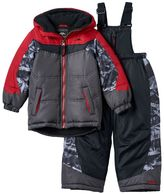 Pacific Trail Toddler Boy Heavyweight Colorblock Geo-Print Jacket & Bib Snow Pants Snowsuit Set