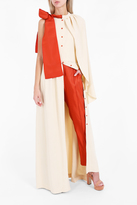 Rosie Assoulin Cape Button Gown