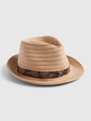 Gap Kids Camo Straw Fedora