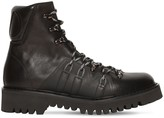 Valentino Logo Leather Lace-up Hiking Boots