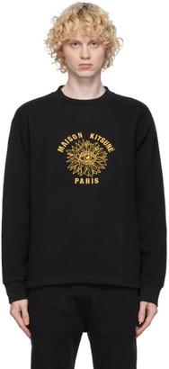 MAISON KITSUNÉ Black Big Eye Flower Sweatshirt