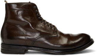 Officine Creative Burgundy Anatomia 13 Boots