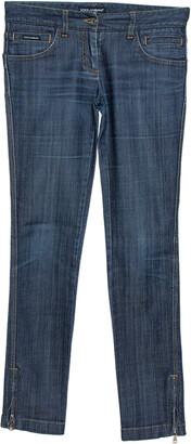 Dolce & Gabbana Blue Cotton Blend Denim Low Rise Jeans S