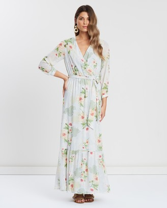 Dorothy Perkins Long Sleeve Soft Paisley Maxi Dress