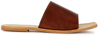 ST. AGNI Margot Brown Leather Sliders