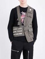 Undercover Half-exposed cotton waistcoat