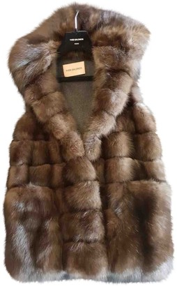 Yves Salomon Brown Fur Coat for Women