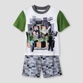 Minecraft Boys' Minecraft Pajama Set - White