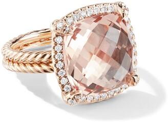 David Yurman 18kt rose gold Chatelaine diamond and morganite ring