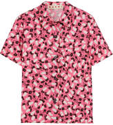Marni Printed Cotton-poplin Shirt - Pink