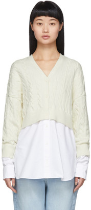 Alexander Wang Off-White Bi-Layer Cardigan