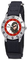 Disney Kids' D795S500 Camp Rock Anna Time Teacher Black Velcro Strap Watch
