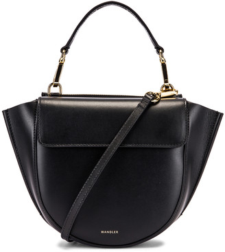 Wandler Mini Hortensia Leather Bag in Black | FWRD