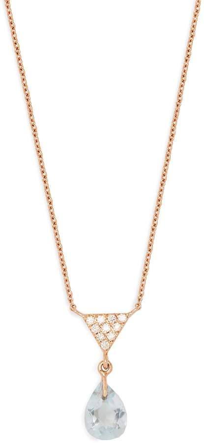 Diane Kordas Diamond, topaz & rose-gold necklace