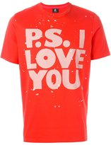 Paul Smith 'P.S. I Love You' print T-shirt