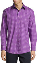 English Laundry Medallion-Print Sport Shirt, Purple