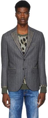 R 13 Grey Studded Tailored Blazer