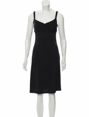 Celine Sleeveless Midi Dress w/ Tags Navy