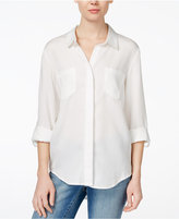 Velvet Heart Riley Roll-Tab-Sleeve Button-Down Shirt