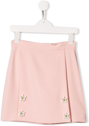 Dolce & Gabbana Lily Button Embellished Skirt