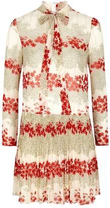 RED Valentino Floral-print Chiffon Dress