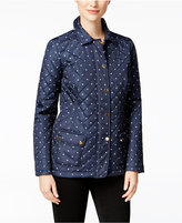 Charter Club Dot-Print Quilted Jacket, Created for Macy's