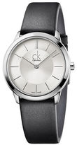 Calvin Klein Stainless Steel and Leather Watch, K3M221C6