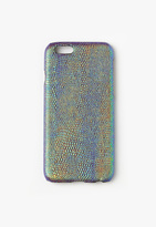 Missguided Blue Croc Effect iPhone 6 Case
