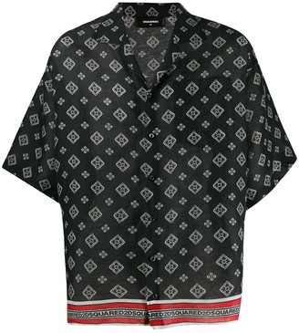 DSQUARED2 oversized printed shirt
