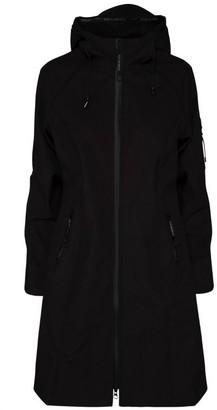 Ilse Jacobsen Rain37L Long Raincoat - Black - DK 36 (UK 10)