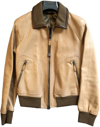 Tom Ford Beige Leather Jackets