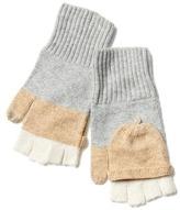 Gap Merino wool blend convertible colorblock tech mittens