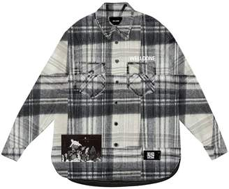 we11done We11 Done PRINTED WOOL FLANNEL SHIRT