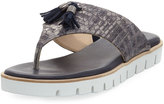 Amalfi by Rangoni Ballo Embossed Leather Sandal, Gray