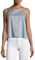 Milly Chambray Twill Trapeze Cami Top, Denim