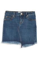 Hudson Girl's Edith Frayed Hem Denim Skirt